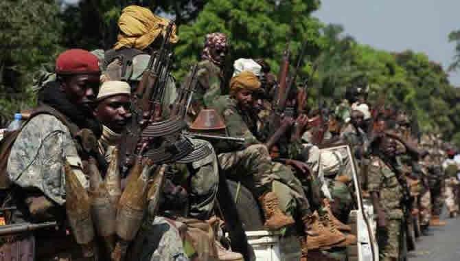 Des rebelles en Centrafrique. Illustration. © DR