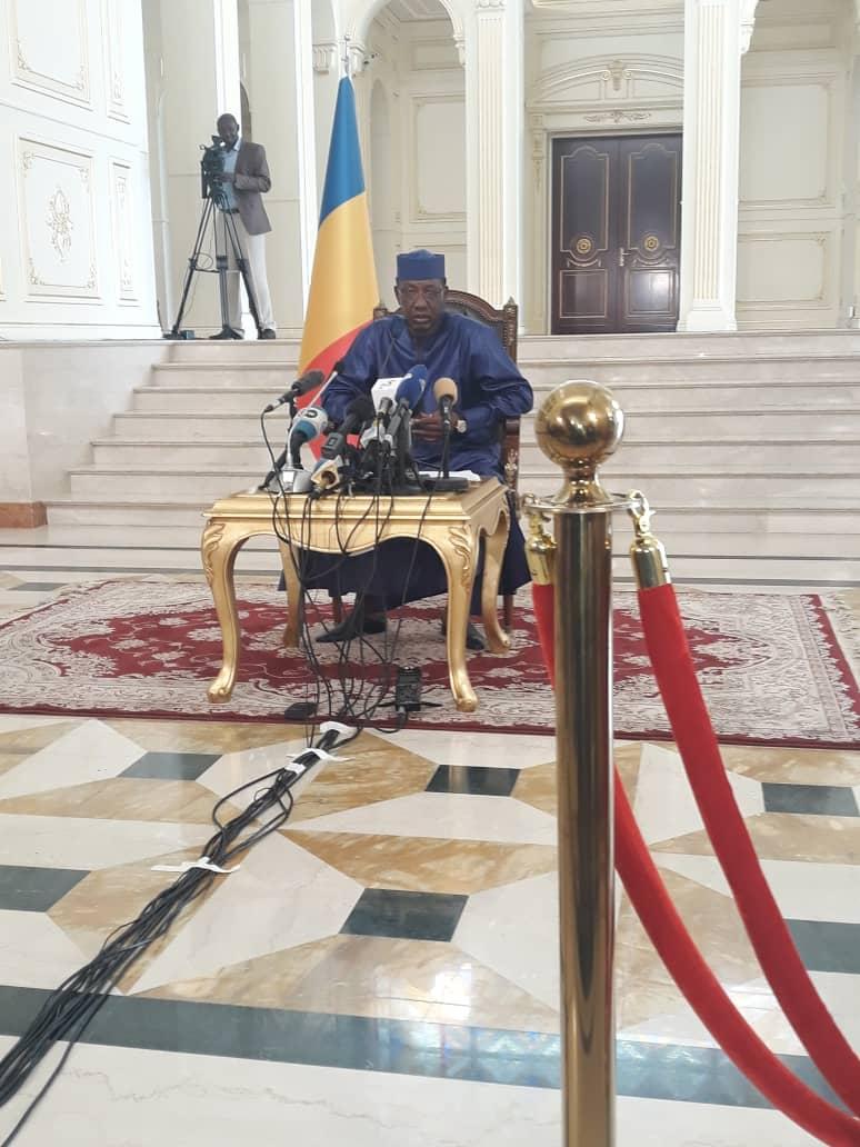 Tchad : le président Idriss Déby face aux médias au Palais présidentiel