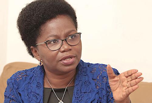 la Ministre du développement à la base, Victoire Tomegah Dogbé. © RT