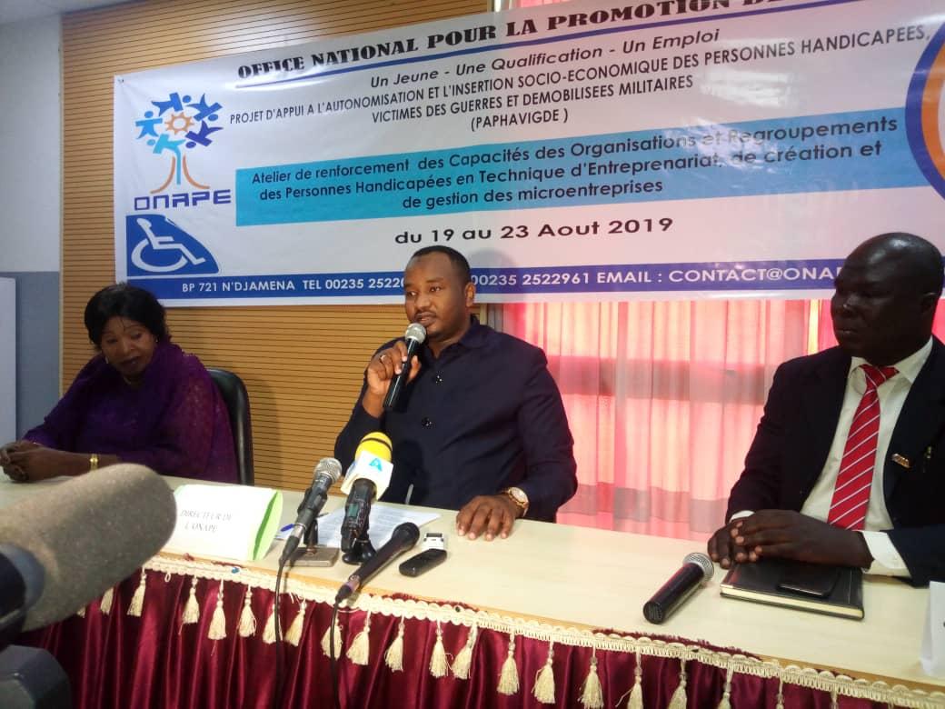 Tchad : des handicapés formés en entrepreneuriat par l'ONAPE pour favoriser leur insertion. © Alwihda Info