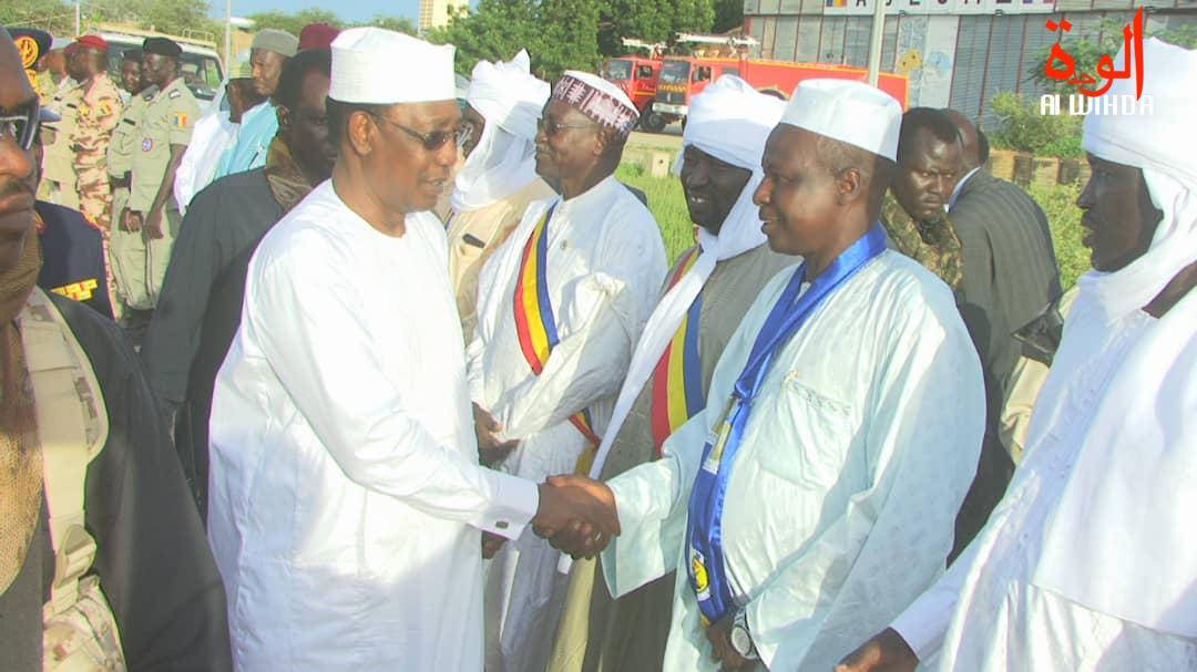 En images : visite du président tchadien Idriss Déby à Abéché