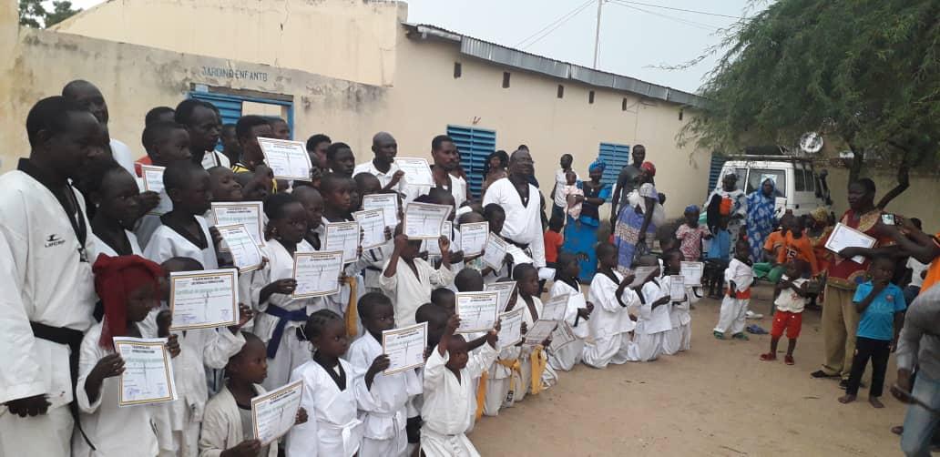 Tchad : en taekwondo, les jeunes visent la ceinture noir comme Déby. © Alwihda Info