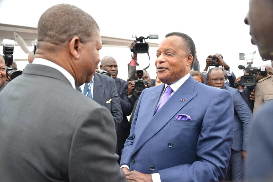 L'arrivée du président angolais à Brazzaville.