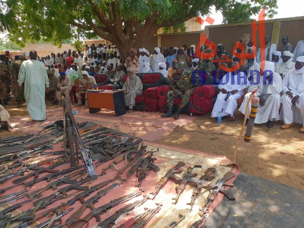 Tchad : importante saisie d'armes par les forces de sécurité au Sila. © Alwihda Info