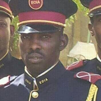 Le commandant de bataillon du groupement anti-terroriste, Mahamat Galmaye Wordougou.