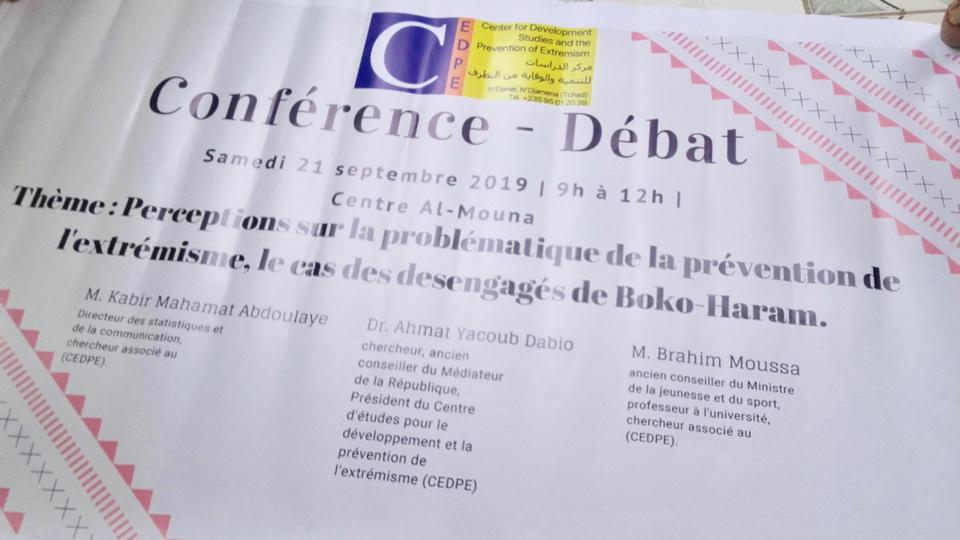 Tchad : débat sur la prévention de l'extrémisme et les désengagés de Boko-Haram