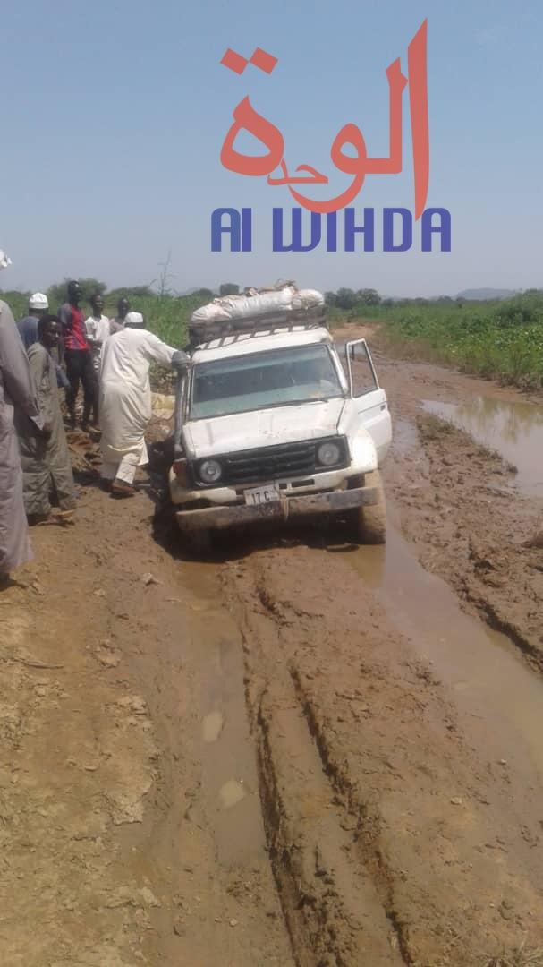 Tchad : la saison pluvieuse aggrave l'état des routes et freine l'activité commerciale. © Alwihda Info