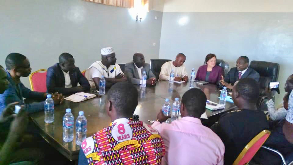 La coordinatrice régionale des systèmes éducatifs américains en Afrique de l'Ouest et centrale, Mme. Diane Wiesz Young. ©Alwihda Info