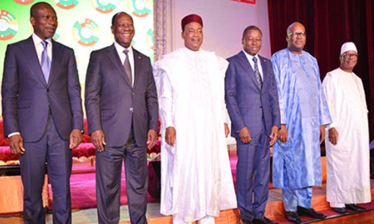 Des chefs d'Etats africains lors du 3ème sommet  des chefs d'Etat du Conseil de l'Entente. Illustration. © DR
