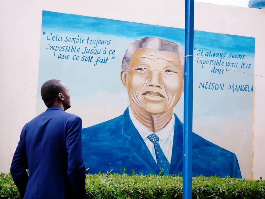 Succès Masra et l'image de Neslon Mandela