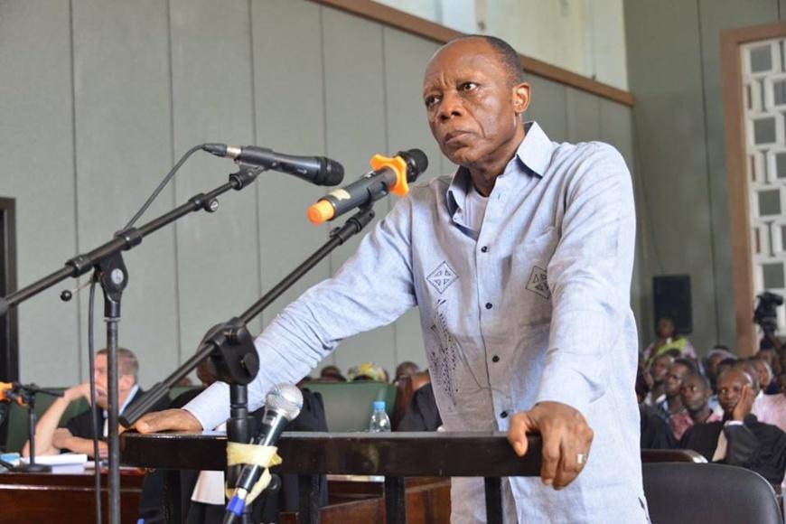 Le général Jean Marie Michel Mokoko lors de son procès.