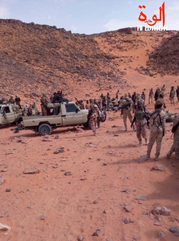 Illustration. Des militaires dans la zone de Miski, au nord du Tchad. © Alwihda Info