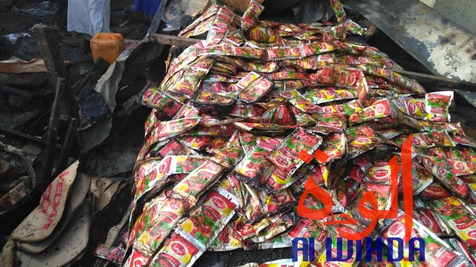 Tchad : scène de désolation au marché de Dembé ce matin après l'incendie