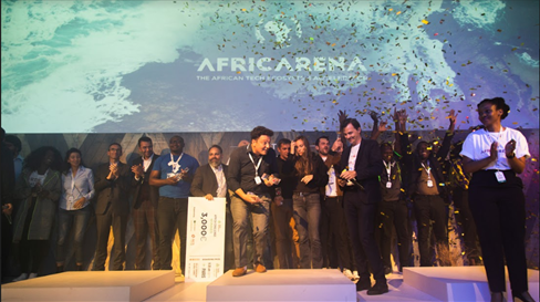 Twenty-one Top Startups Shine on The Stage for Africa's Tech Future. © DR