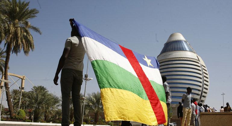 Un drapeau centrafricain. Illustration. © DR