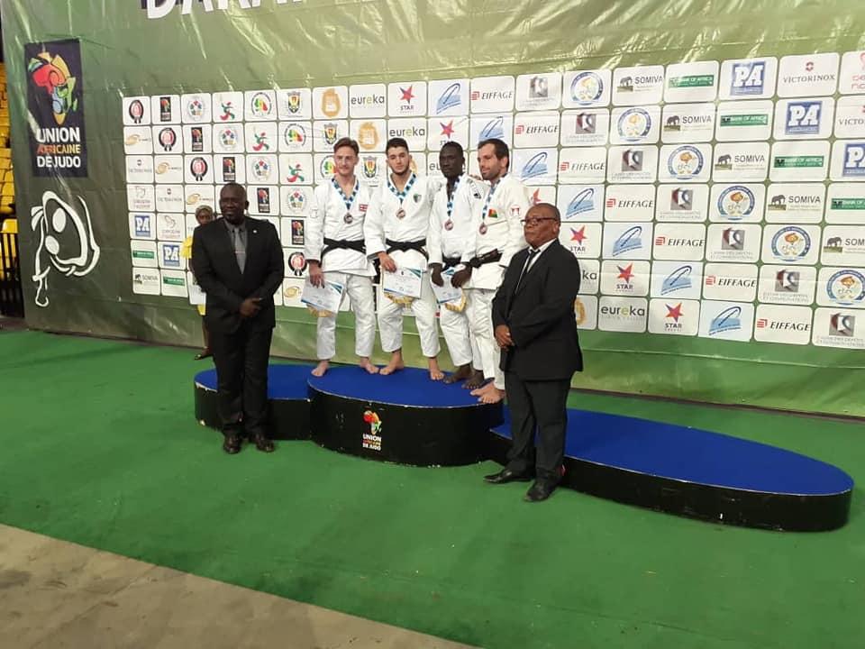 Open de Dakar : médaille de bronze pour un judoka tchadien. © COST