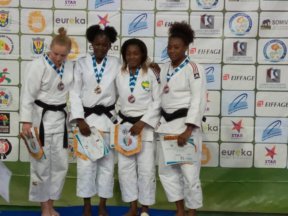 Open de Dakar : une judokate tchadienne remporte une médaille d'or. © COST