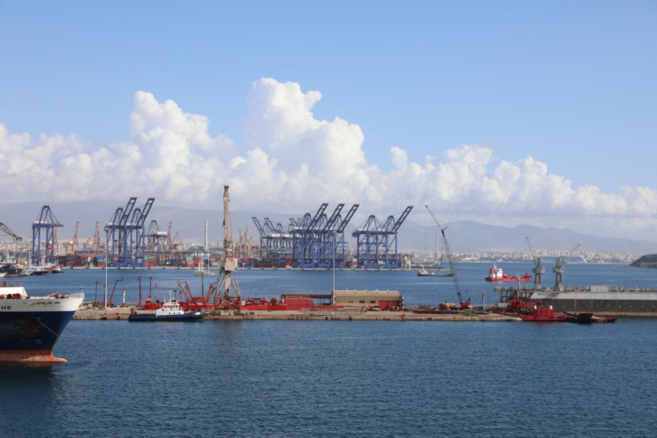 The Port of Piraeus. Photo by Zhang Penghui from People's Daily