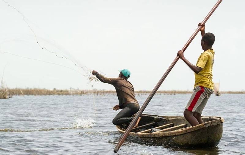 Togo : coup d'envoi de la campagne de pêche 2019-2020 sur le Lac Nangbéto. Illustration. © DR