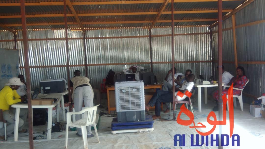 Tchad : une opération de vérification biométrique des réfugiés à l'Est. © Alwihda Info