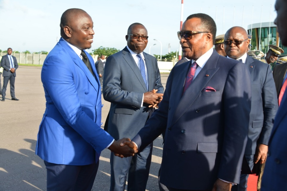 Départ de Denis Sassou N'Guesso à Yaoundé.