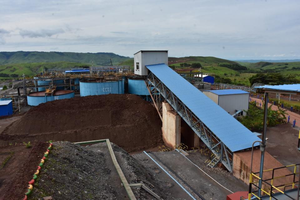 Une vue partielle du complexe minier de Soremi.