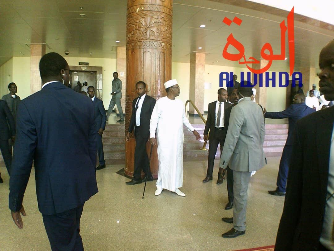 Le président Idriss Déby le lundi 2 décembre 2019 au Palais du 15 janvier lors de la journée de prière pour la paix, la cohabitation pacifique et la concorde nationale. © Alwihda Info