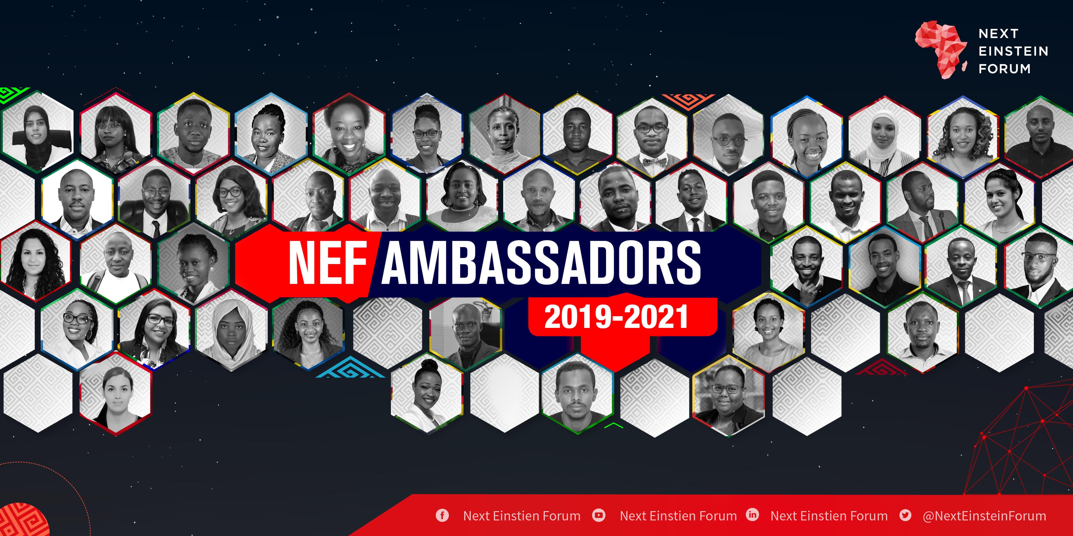 Les nouveaux ambassadeurs du NEF vont faire évoluer la façon dont la science et la technologie sont perçues en Afrique. © NEF