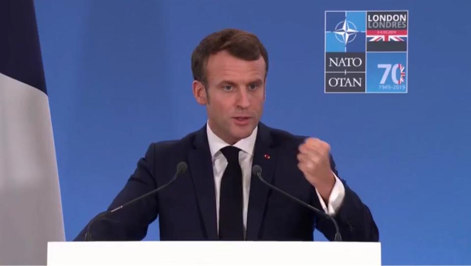 Le président français Emmanuel Macron le 4 décembre 2019 lors du sommet de l'OTAN.