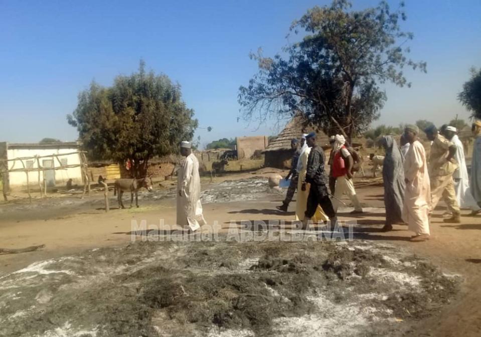 Tchad : des incendies causent de graves dégâts dans un village de la province du Salamat. © Alwihda Info/M.A.K.