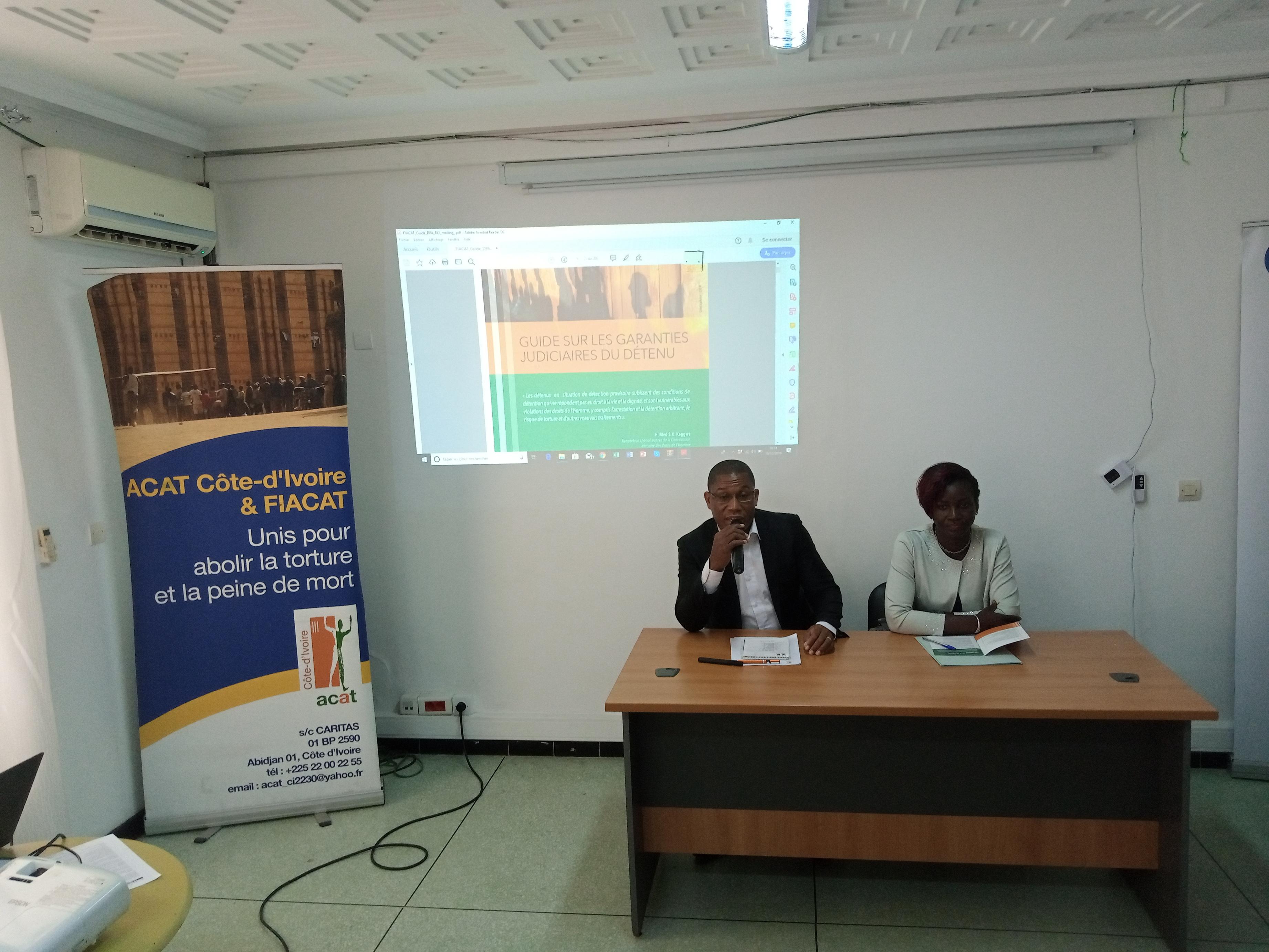Côte d'Ivoire/Commémoration de la 71e Journée internationale des droits de l'homme : L'Acat-CI présente son nouveau guide sur les garanties judicaires du détenu