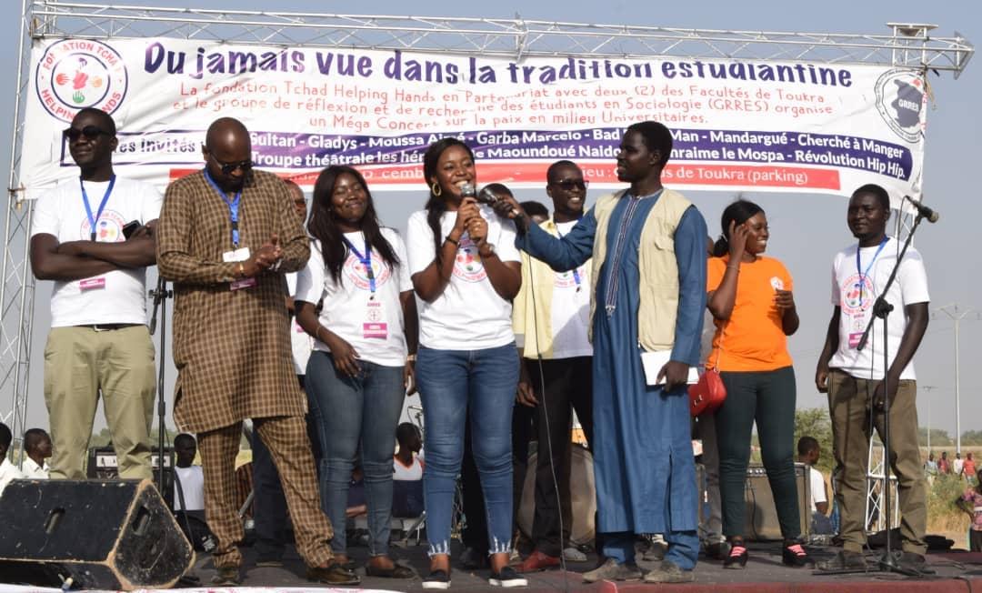 La fondation Tchad Helping Hands en plaidoyer auprès des étudiants. ©DR