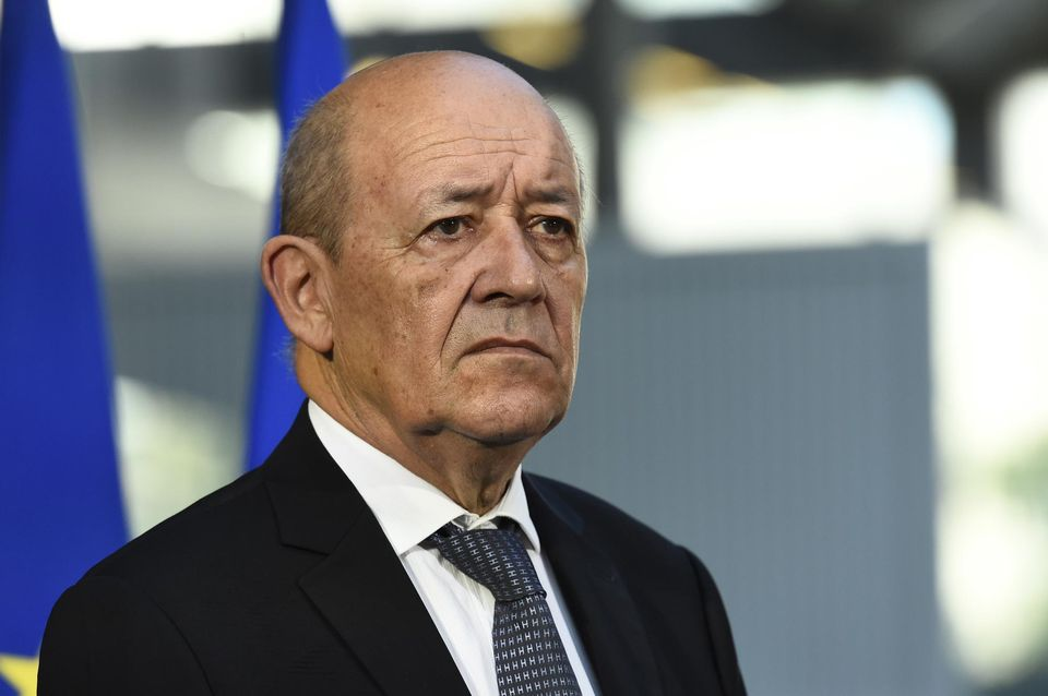 Jean-Yves Le Drian à Paris, le 31 août. Photo Bertrand Guay. AFP