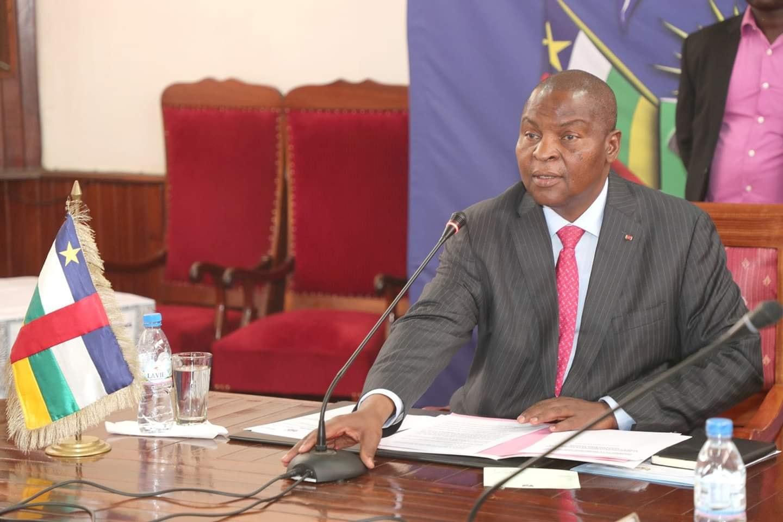 Le président de la République centrafricaine Faustin-Archange Touadéra. © DR/Fb