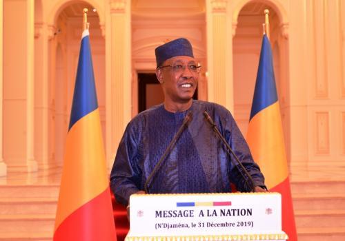 Tchad : le chef de l'Etat Idriss Déby s'adresse à la Nation. © PR