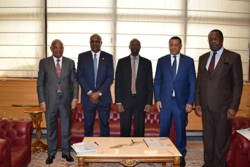 DG BVMAC, CM COCM_Gouverneur BEAC, PRST CEMAC et President COSUMAF. © Afdb