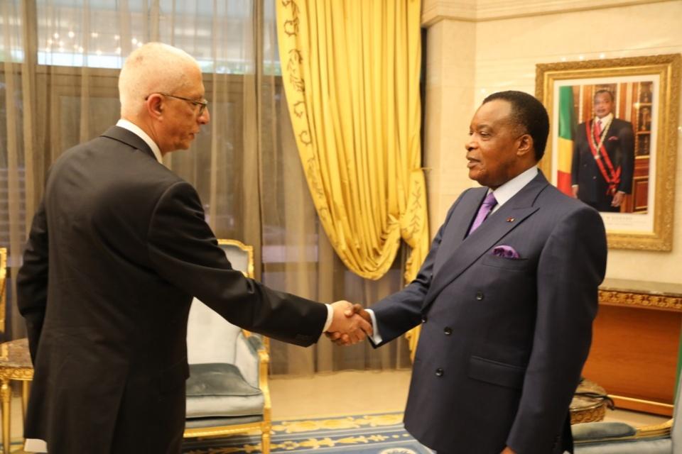 Denis Sassou-N'Guesso et Hamdi Liza.