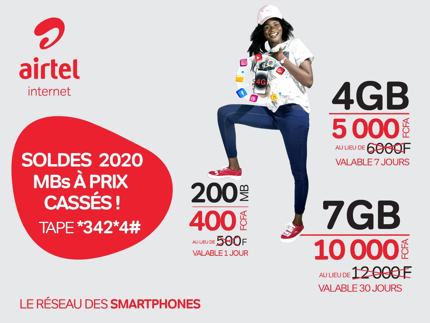 Tchad : de nouveaux tarifs Internet proposés par Airtel
