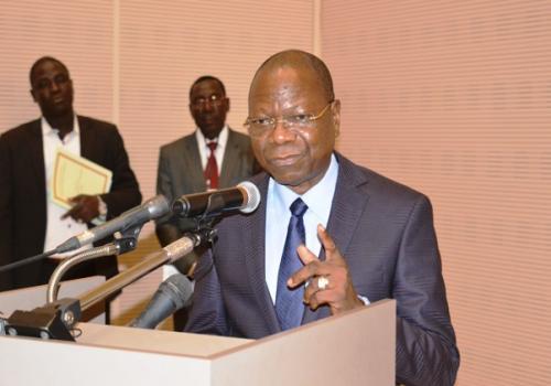 Le ministre secrétaire général de la Présidence de la République, Kalzeubé Payimi Deubet. © DR