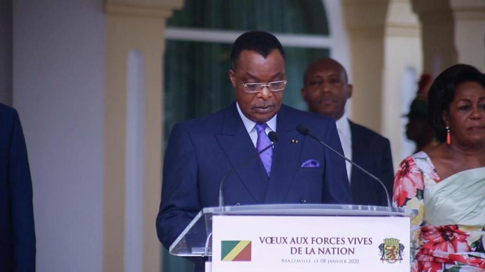 Denis Sassou N'Guesso répondant aux Forces vives de la Nation.