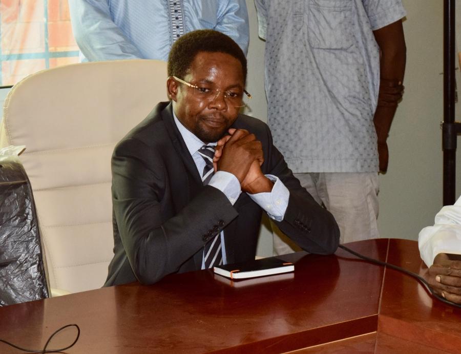 Le directeur général de la douane et des droits indirects, Mahamat Abdelkarim Charfadine. ©DR/Min. Fin.