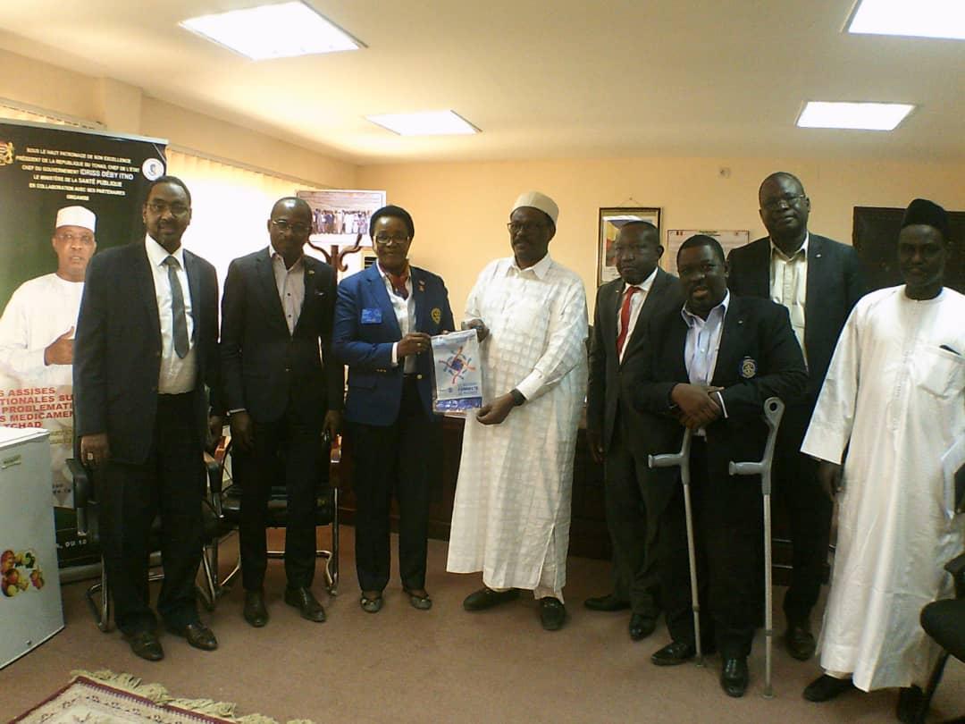 Tchad : la gouverneure de Rotary Club reçue par le ministre de la Santé. © Mahamat Abdramane Ali Kitire/Alwihda Info
