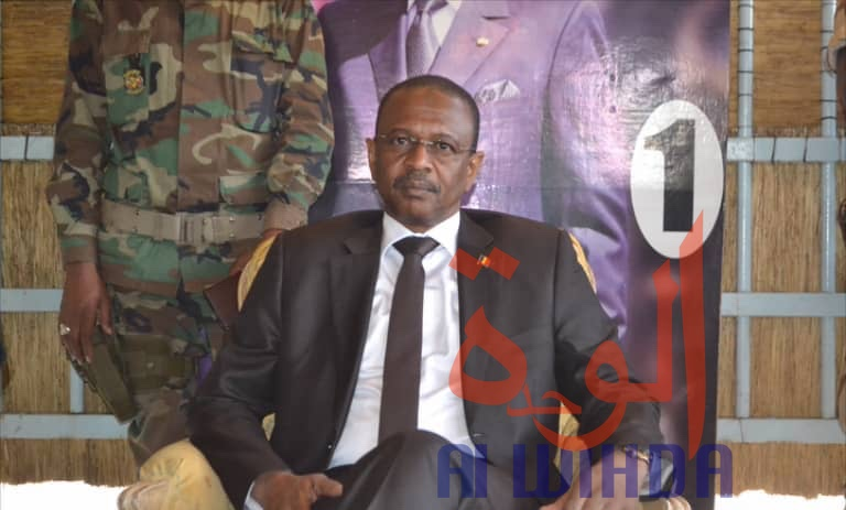 Le ministre de l'Environnement, de l'Eau et de la Pêche, Brahim Mahamat Djamaladine. © Alwihda Info/Adam Yaya Bineya