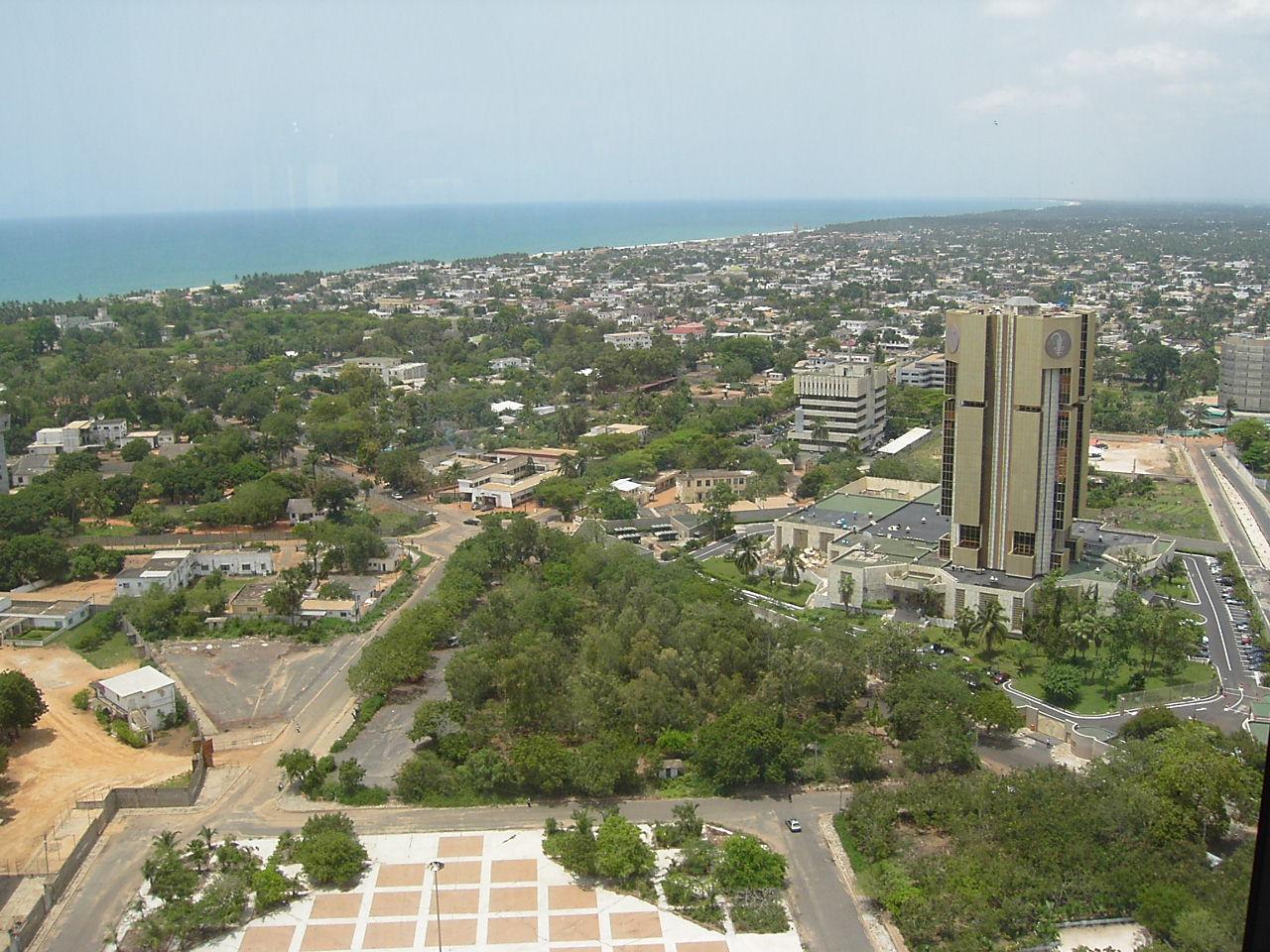 Vue de Lomé. Illustration. © DR