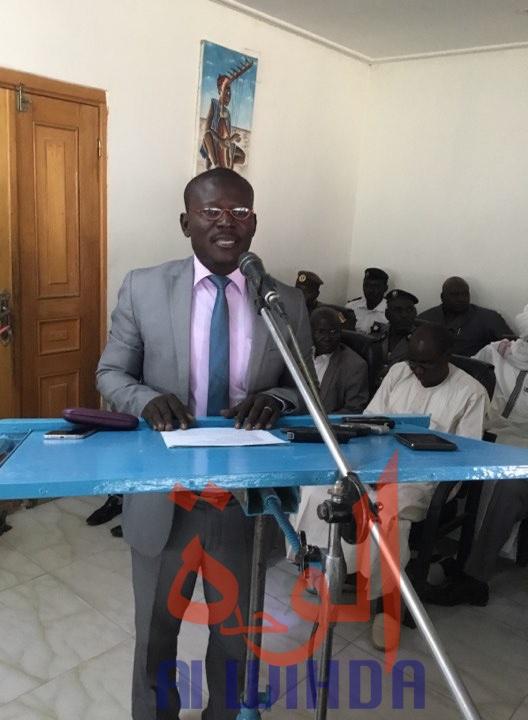 Le président sortant de l'UJT, Belngar Larme Laguerre. © Alwihda Info/Djimet Wiche
