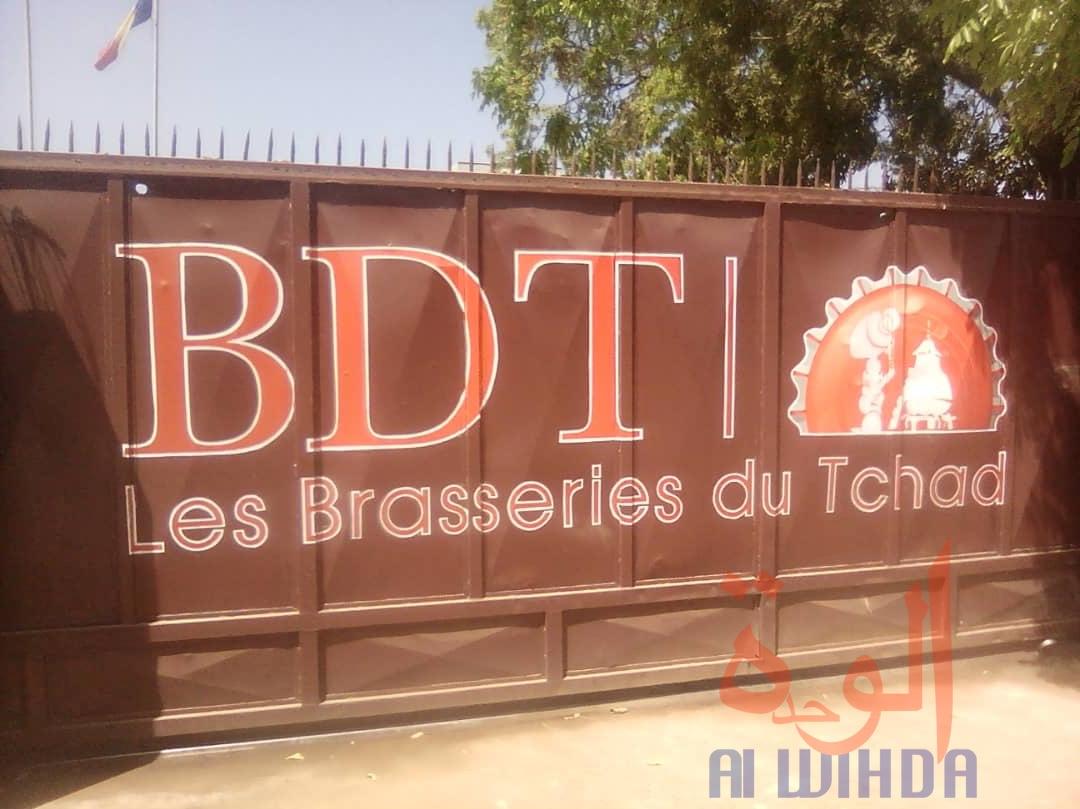 Un portail des Brasseries du Tchad à Moundou, au Tchad. © Golmen Ali/Alwihda Info