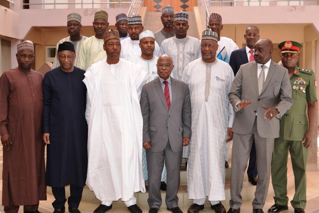 Tchad : le gouverneur nigérian de l'Etat du Bornou reçu à la Présidence. © PR