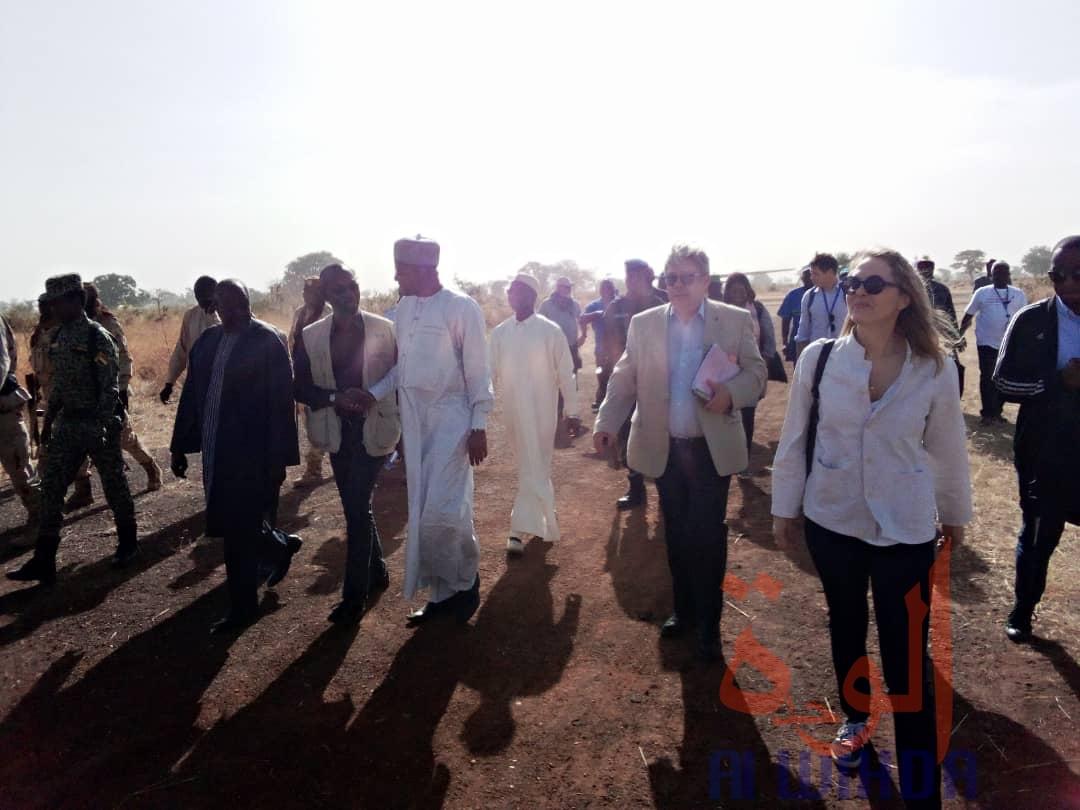 La princesse de Jordanie, Sarah Zeid, est au Tchad. © Foka Mapagne/Alwihda Info