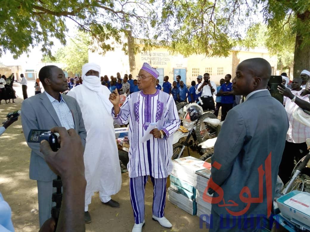 Tchad : un appui en matériel et motos à la délégation à l'enseignement du Sila. © Mahamat Issa Gadaya/Alwihda Info
