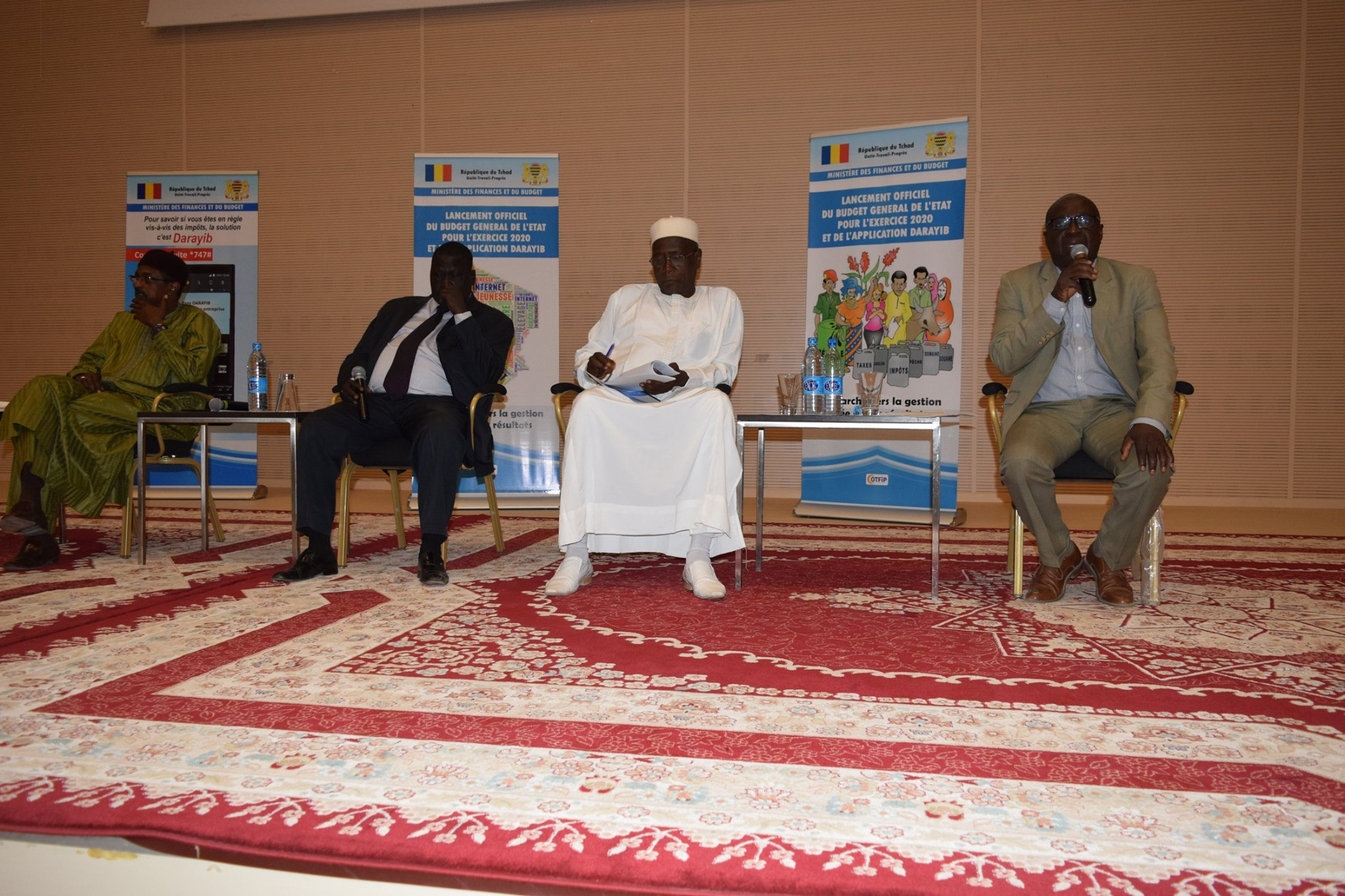 Tchad : le budget citoyen 2020 et l'application Darahib lancés. © DR/Min. Fin.